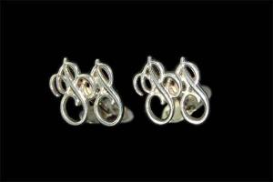 запонки серебро ВР