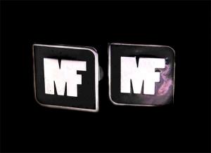 запонки логотип фирмы с эмалью